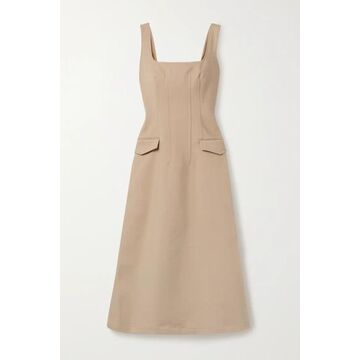 Dion Lee - Frame Cotton-blend Midi Dress - Beige