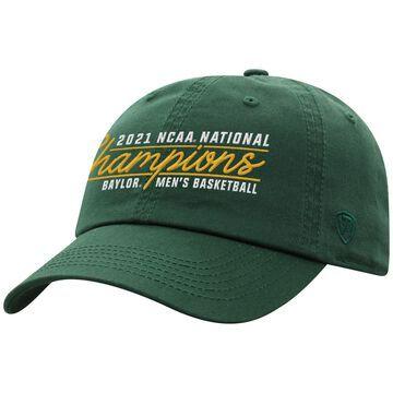Men's Top of the World Green Baylor Bears 2021 NCAA Men's Basketball National Champions Script Crew Adjustable Hat