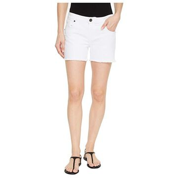KUT from the Kloth Gidget Fray Shorts in Optic White