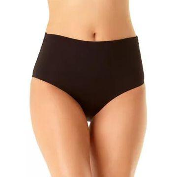 Anne Cole Women's High Waist Shirred Swim Bottoms - -
