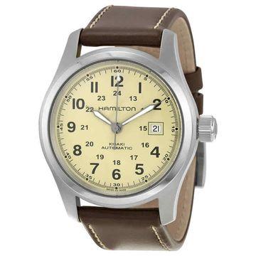 Hamilton Khaki Field Automatic Beige Dial Mens Watch H70555523