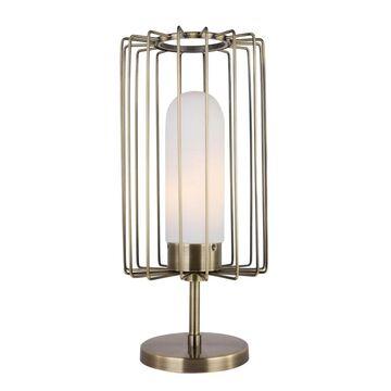 Woodbridge Lighting 19371CBRLE Tanner Table Lamp w/ Embedded LED