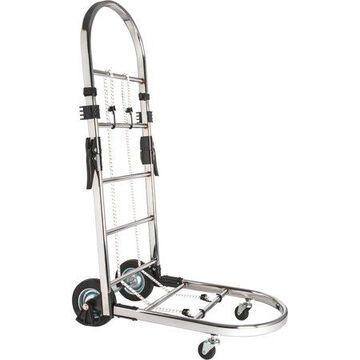 Sparco, Portable Platform Luggage Cart, 1 Each, Chrome