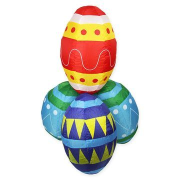 Northlight& 48-Inch Inflatable Lighted Easter Eggs Yard Décor