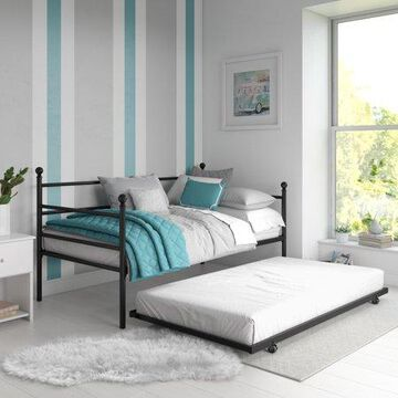 Mainstays Metal Daybed and Trundle, Multiple Colors