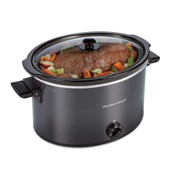 33191 BLK 10 qt Oval Slow Cooker