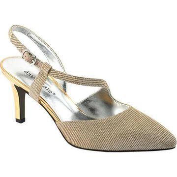David Tate Women's Lucia High Heel Gold Textile/Patent/Synthetic