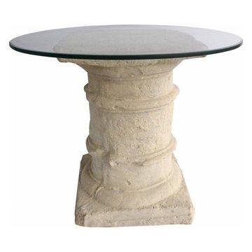 Anderson Teak Etruscan Pedestal Dining Table in Natural Beige