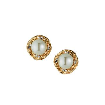 Love Knot & Pearly Clip Earrings