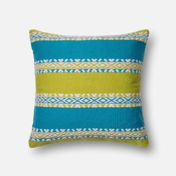 DSETP0216GRBBPIL3 22 x 22 in. Indoor & Outdoor Down Insert Decorative Pillow - Green & Blue