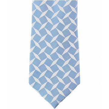 Sean John Blue White Men's One Size Diamond Check Silk Neck Tie