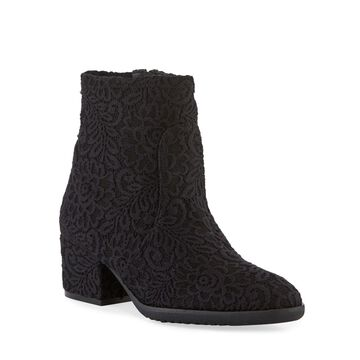 Farrel Embroidered Fabric Booties
