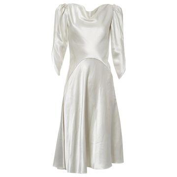 Blumarine Ecru Silk Dresses