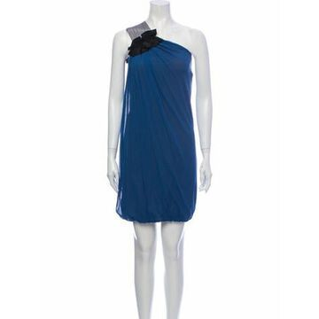 One-Shoulder Mini Dress Blue
