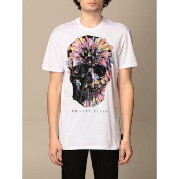 Philipp Plein cotton t-shirt with skull