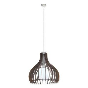 EGLO USA Tindori 1-Light Pendant Light in Dark Brown