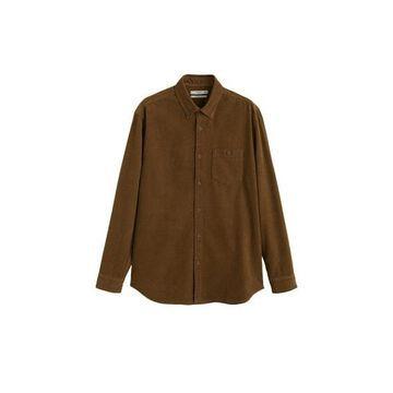 MANGO MAN Regular-fit micro corduroy shirt