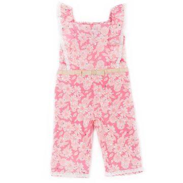 Baby Girl Little Lass Floral Jumpsuit