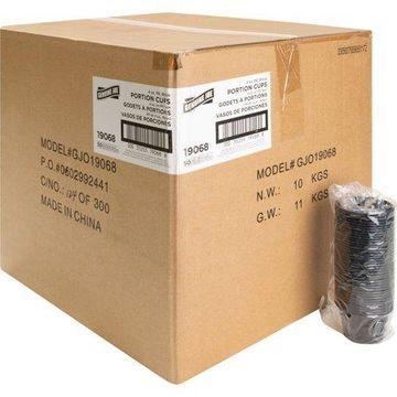 Genuine Joe, GJO19068, Portion Cups, 2500 / Carton, Black