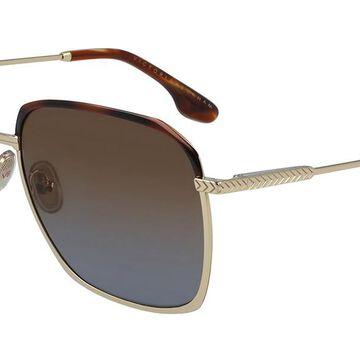 Victoria Beckham VB207S 720 Womenas Sunglasses Gold Size 59