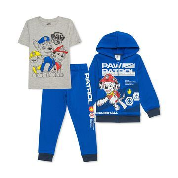 Little Boys 3-Pc. PAW Patrol Hoodie, T-Shirt & Joggers Set