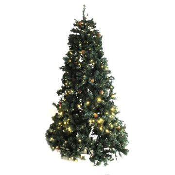 ALEKO Pre-Lit Artificial Christmas Tree with Pine Cones 7 Foot
