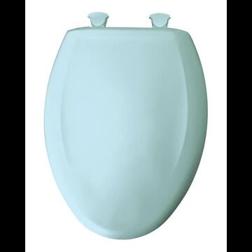 Bemis 1200SLOWT Elongated Closed-Front Toilet Seat and Lid with Whisper-Close Easy-Clean & Change and STA-TITE Seat Fastening System Dresden Blue