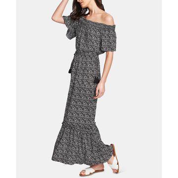 Floral-Print Off-The-Shoulder Maxi Dress