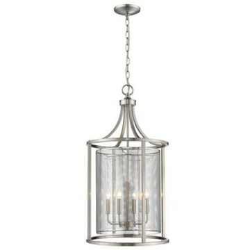 Eglo Verona 4-Light Slope Mount Ceiling Pendant in Brushed Nickel with Metal Shades