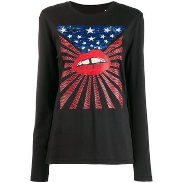 graphic print long-sleeve top