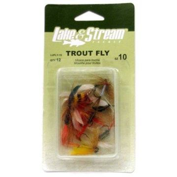 Eagle Claw LUFLYASST Trout Fly Assortment Fishing Lure
