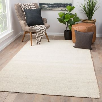 Quito Solid White Natural Jute Area Rug (10' x 14') - 10'x14'