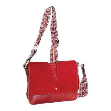 Nino Bossi Women's Sumana Rocks Crossbody Bag Red - US Women's One Size (Size None)