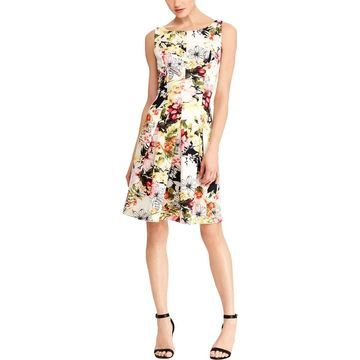 American Living Womens Party Dress Sleeveless Floral