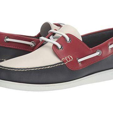 Church's Marske Boat Shoe (Blue/Red) Men's Shoes