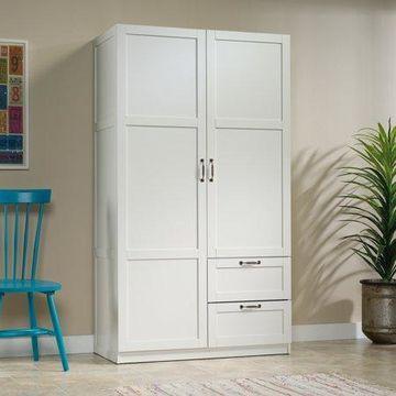 Sauder Select Wardrobe Armoire, White Finish
