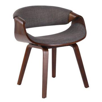 Porthos Home Living Room Chair With Fabric Upholstery and Wooden Legs (Mid-Century Style, Various Colors)
