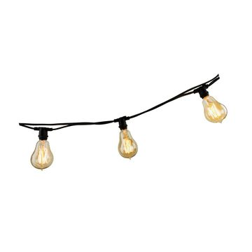 Bulbrite 810055 String10/E12/Black-A15KT Indoor & Outdoor String Light w/Inca...