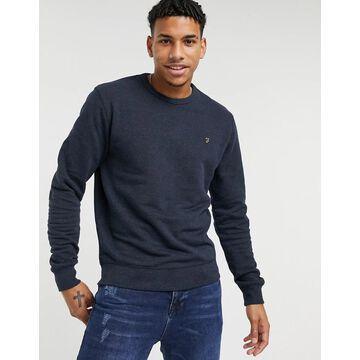 Farah Tim crew neck sweatshirt in gray-Navy