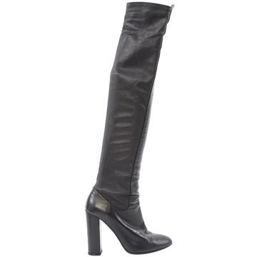 Aquazzura Black Leather Boots