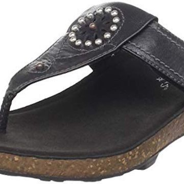 Aetrex Womens Nikki Leather Open Toe Casual Slide Sandals