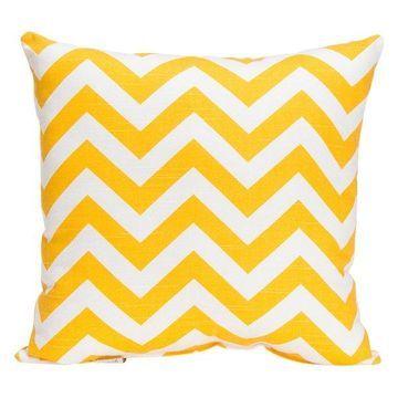 Swizzle Chevron Pillow, Yellow
