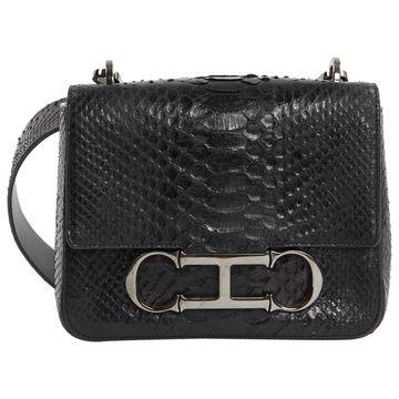 Carolina Herrera Black Python Handbag