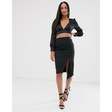 Vesper black midi skirt-Multi