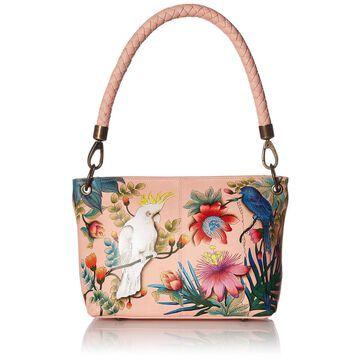 Anuschka Womens Genuine Leather Medium Shoulder Bag | Hand Painted Exterior ...