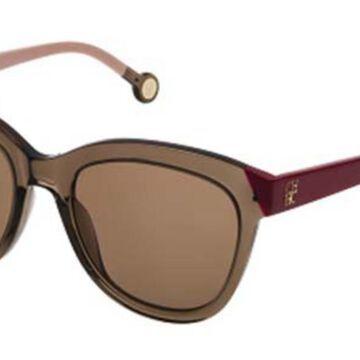 Carolina Herrera SHE743 0ALV Men's Sunglasses Brown Size 52