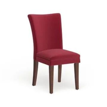 Parson Classic Upholstered Dining Chair (Set of 2) by iNSPIRE Q Bold (Red Microfiber)