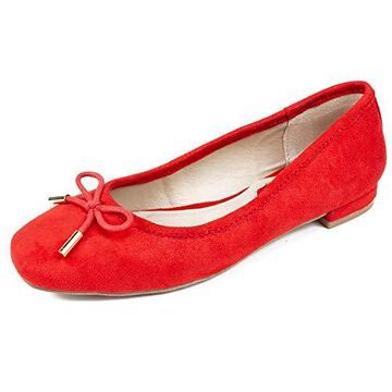 Rialto Womens Annalynne Fabric Square Toe Ballet Flats