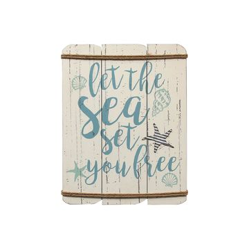 Stratton Home Decor Let The Sea Wall Sign