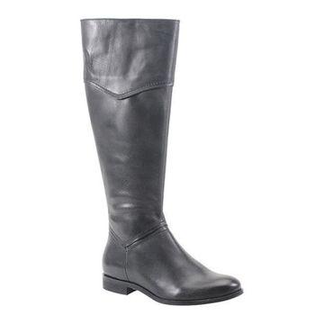 Diba True Women's Poppy Seed Knee High Boot Black Leather